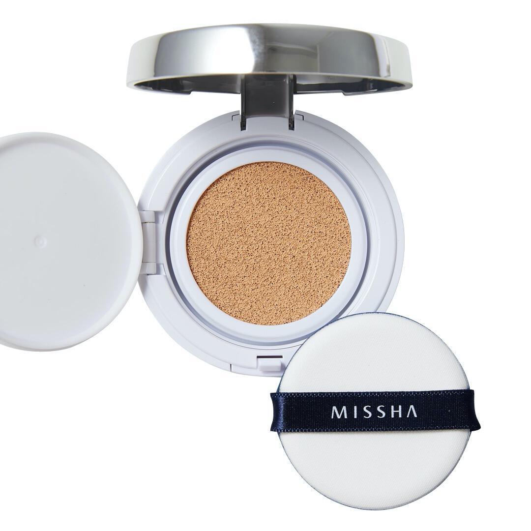 MISSHA(ミシャ)『M クッション ファンデーション No.21 明るい肌色』の使用感をレポに関する画像4