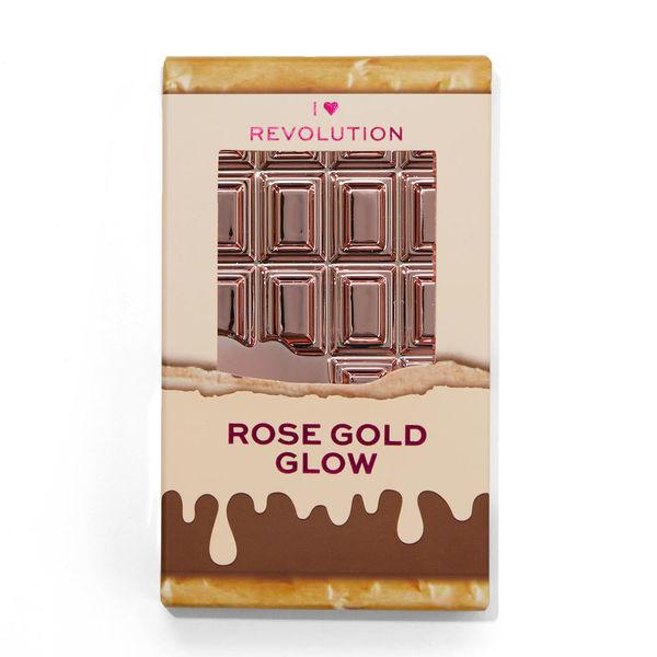 フォトジェニックすぎるMakeup Revolution(メイクアップレボリューション)ミニチョコレートハイライターローズゴールドはピンク×ゴールドの2in1ハイライターに関する画像1