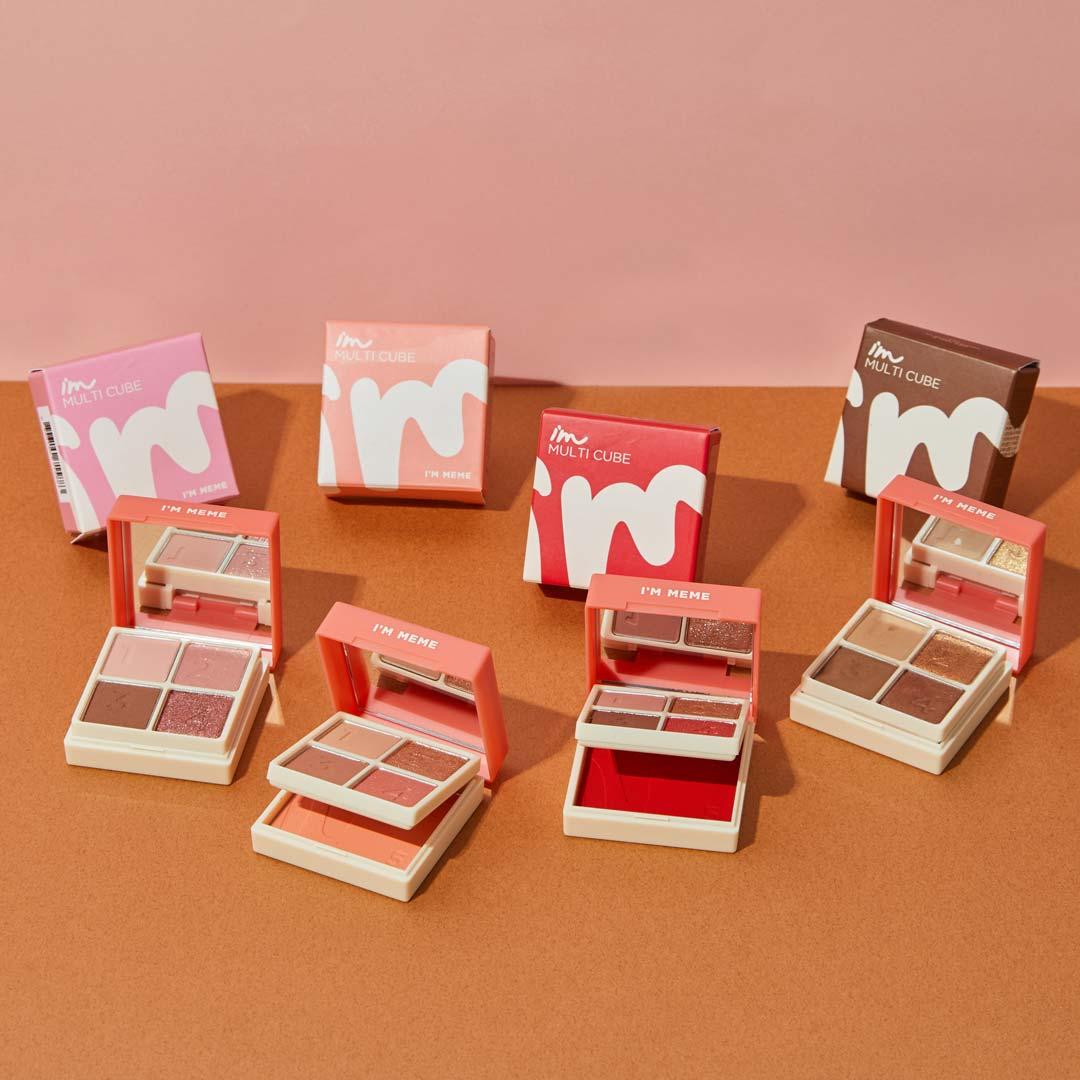 アイムミミ マルチキューブ 002オールアバウトアップルレッド コンパクトさで大人気!色気溢れるレッド系パレットに関する画像