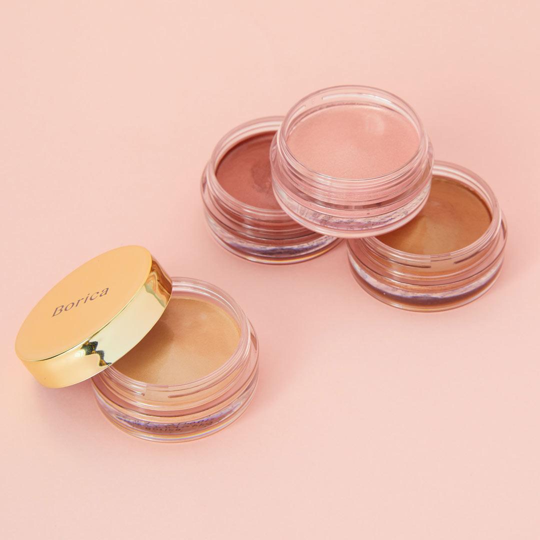 ボリカ 美容液ケアアイシャドウ メイクしながら目元をケア 桜ピンクカラー02 Silky Pinkに関する画像1