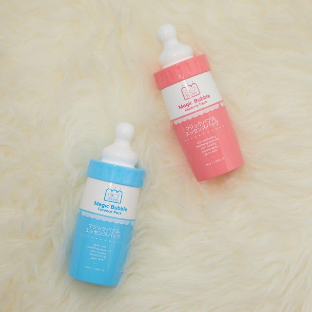 洗い流さない炭酸パックと美容液の2in1アイテム!マジックバブルエッセンスパック 美白に効果大!ピンクのご紹介に関する画像1