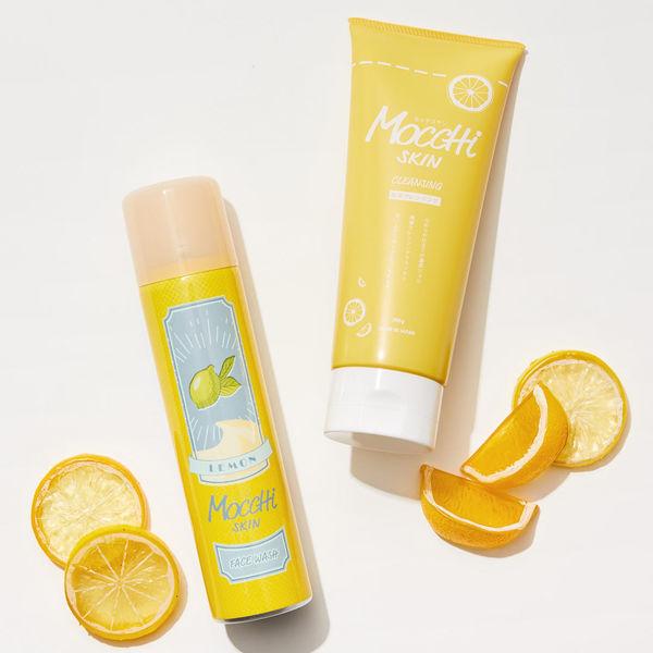 大人気のモッチスキン 吸着泡洗顔シリーズの数量限定レモンをレポに関する画像1