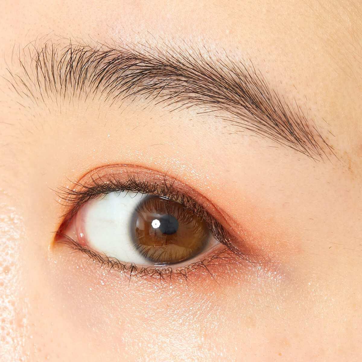 CANMAKE(キャンメイク)『シルキースフレアイズ 07 ネクタリンオレンジ』の使用感をレポ!に関する画像4