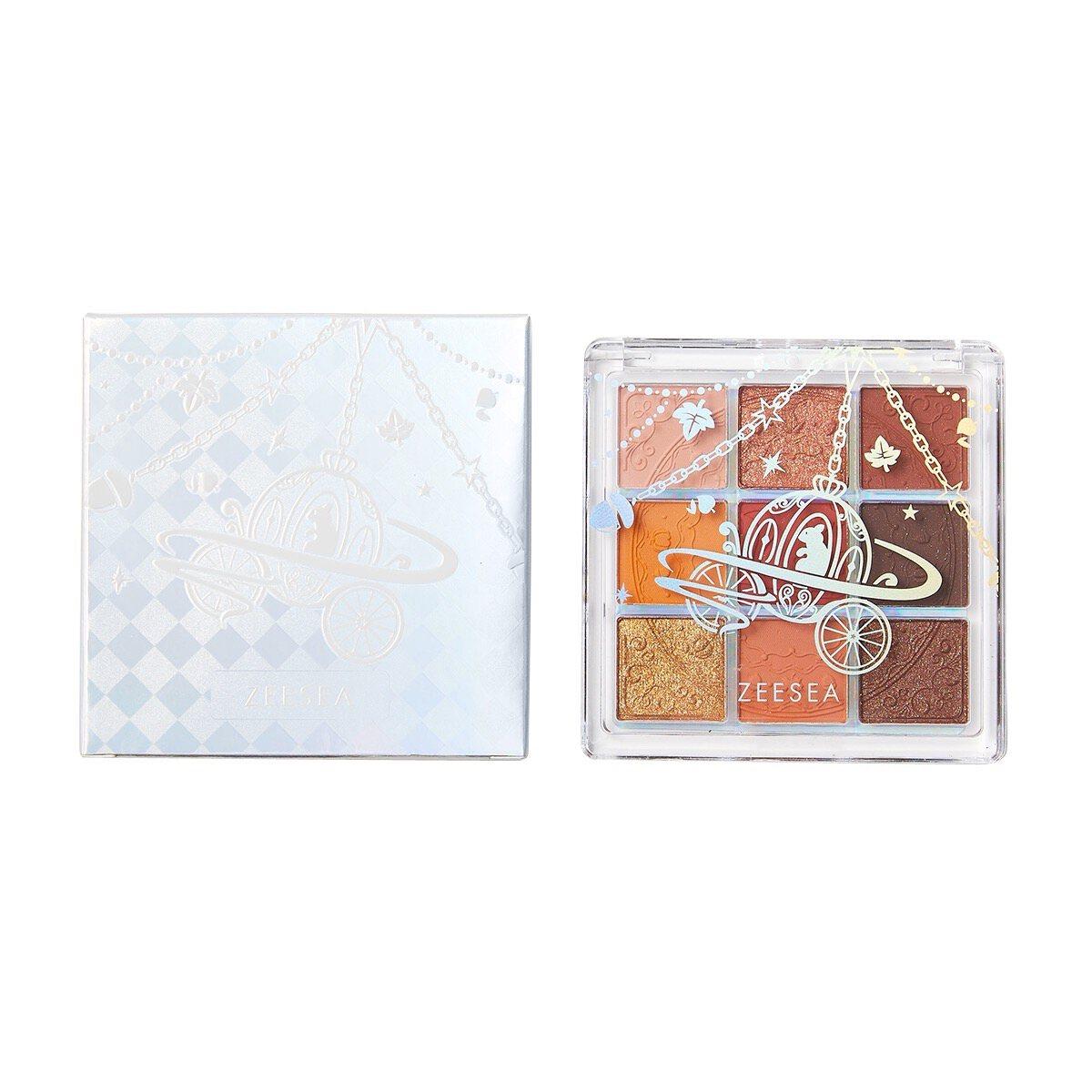 ZEESEA(ズーシー)『クォーツ 9色アイシャドウパレット J13 ハチミツパンプキン』の使用感をレポに関する画像17