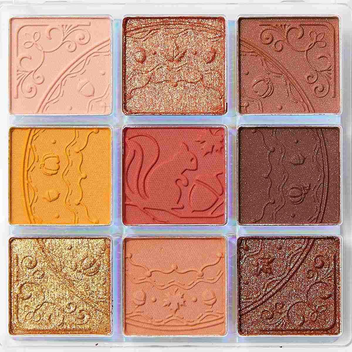ZEESEA(ズーシー)『クォーツ 9色アイシャドウパレット J13 ハチミツパンプキン』の使用感をレポに関する画像7