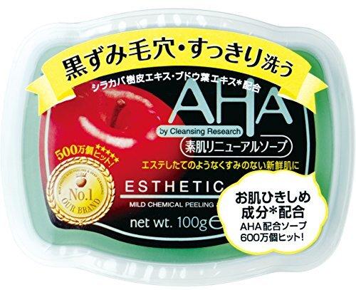 AHA(リンゴ酸、乳酸)配合のクレンジングリサーチ『ソープ』の使用感をレポに関する画像1