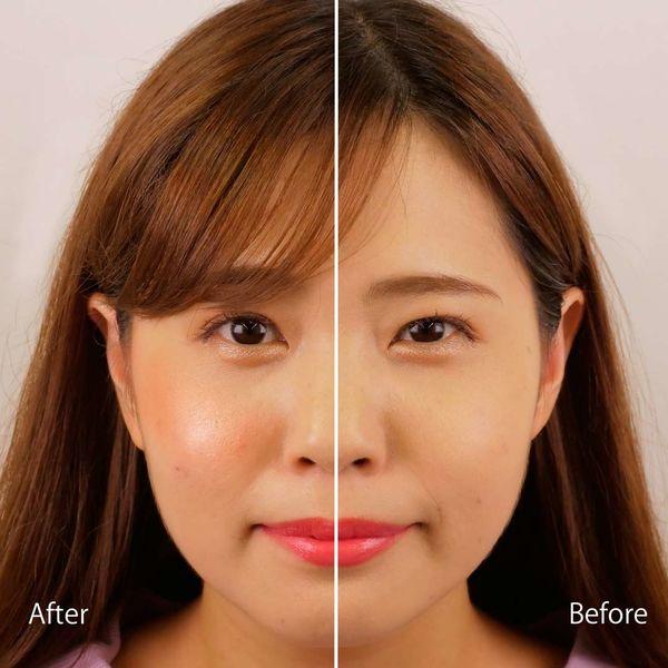 Makeup Revolution(メイクアップレボリューション)ブラッシングハート ピーチキーン 3つのカラーがブレンドされたチークで立体的なツヤ感ほっぺに!に関する画像7