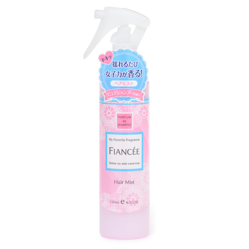 髪に甘い香りをまとう、FIANCEE(フィアンセ)『フレグランスヘアミスト ピュアシャンプーの香り』の使用感をレポに関する画像1