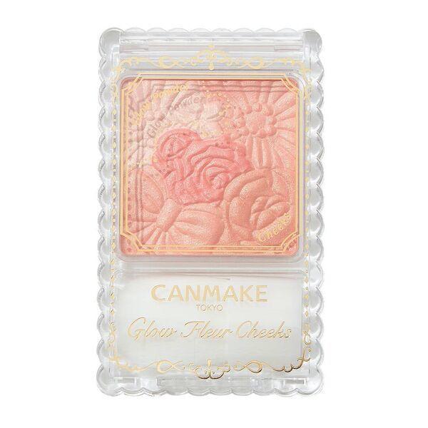 かわいらしく素肌感もあるCANMAKE(キャンメイク)『グロウフルール チークス 01 ピーチフルール』をご紹介に関する画像1