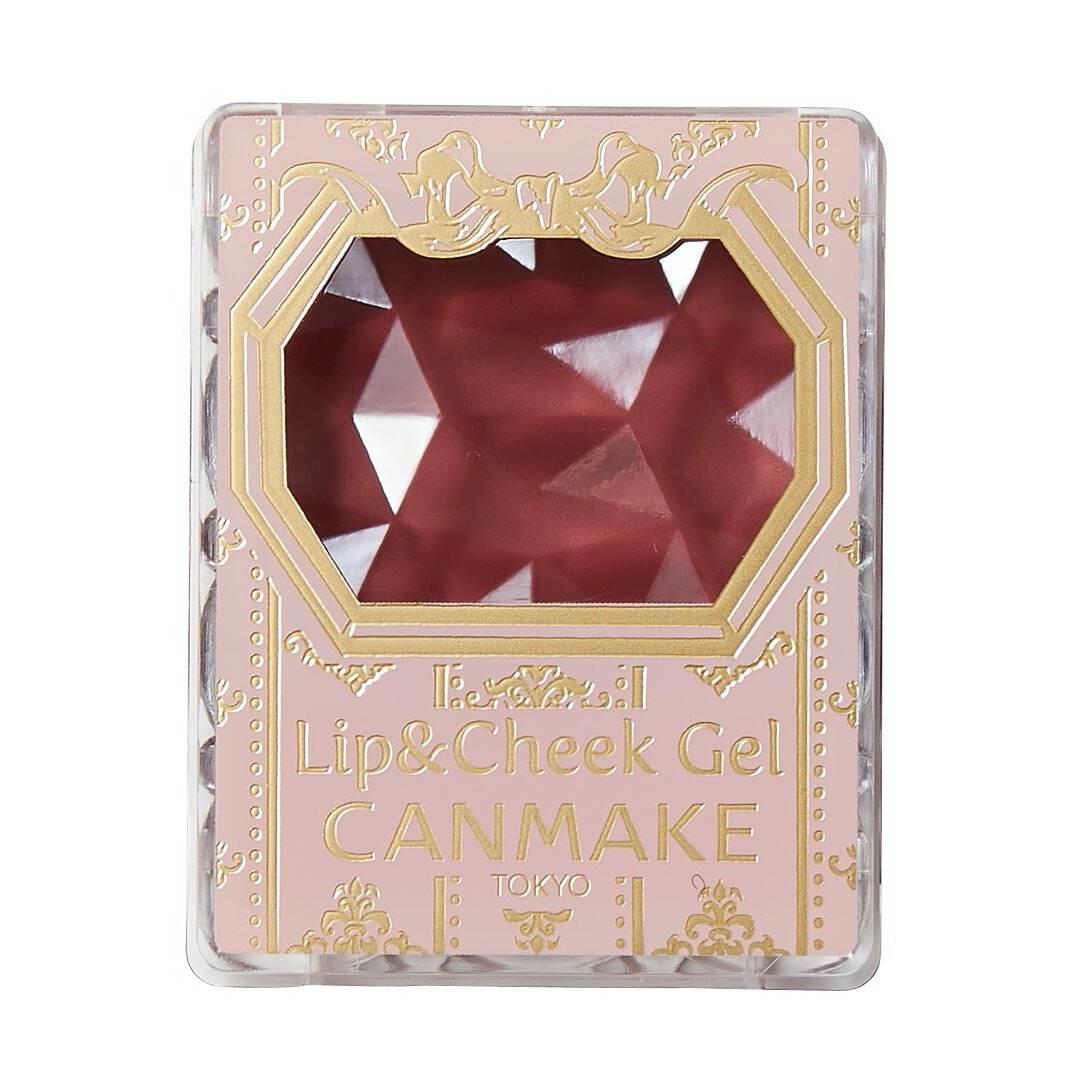 上品ボルドーカラ―のCANMAKE(キャンメイク)『リップ&チーク ジェル 06 ダークプラムシュガー』をご紹介に関する画像4
