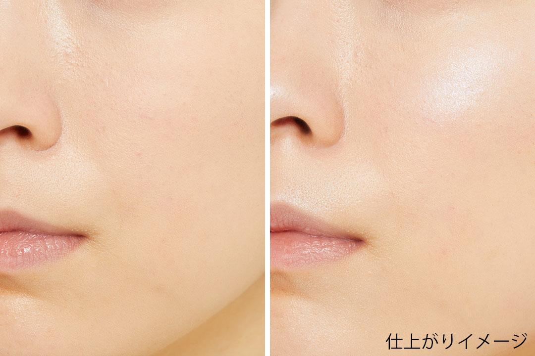 透明感あふれる肌を演出するCANMAKE(キャンメイク)の『グロウフルールハイライター 01 プラネットライト』をご紹介 に関する画像7