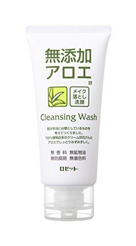 みずみずしくスベスベの肌に!ROSETTE(ロゼット)『無添加アロエメイク落とし洗顔フォーム』の使用感をレポに関する画像1