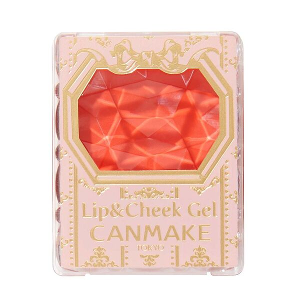 フレッシュなオレンジカラーのCANMAKE(キャンメイク)『リップ&チーク ジェル 02 アップルマンゴーパフェ』の使用感をレポに関する画像5