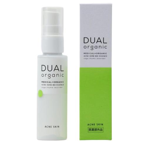 脂性肌の方におすすめの美容液、DUAL ORGANIC(デュアルオーガニック)『アクネハーブMDエッセンス』の使用感をレポに関する画像1