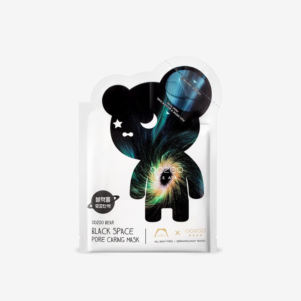 THE OOZOO ベアブラックスペースポアケアマスク マスク24ml+アンプル3ml の画像 1
