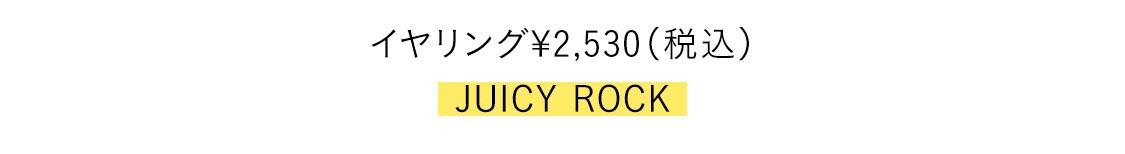 イヤリング¥2,530(税込)/JUICY ROCK