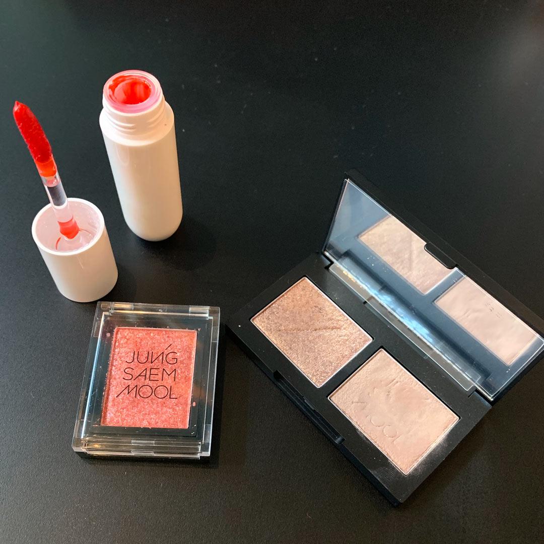 ジョンセンムル  リファイニングアイシャドウダブル #シェルピンクブラウン /ジョンセンムル カラーピース アイシャドウ プリズム #Coral lure /  colorgram:TOK Glow Pop Tint 01