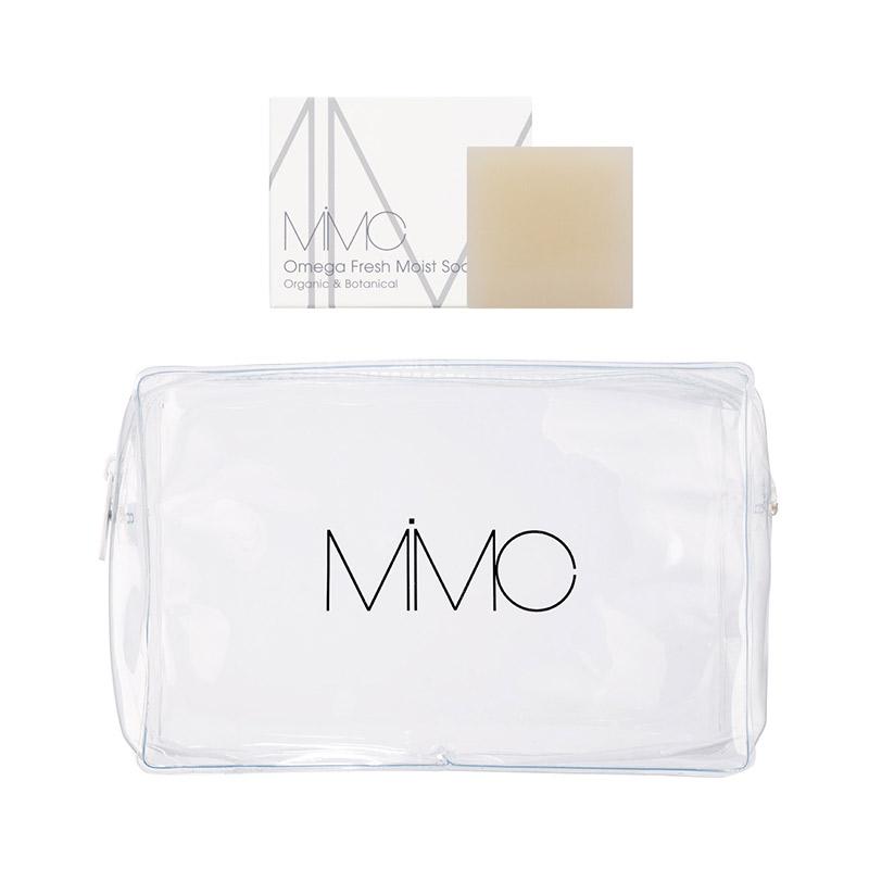 MiMCの商品を7500円(税込)以上購入でオリジナルポーチとオメガソープをプレゼントの画像