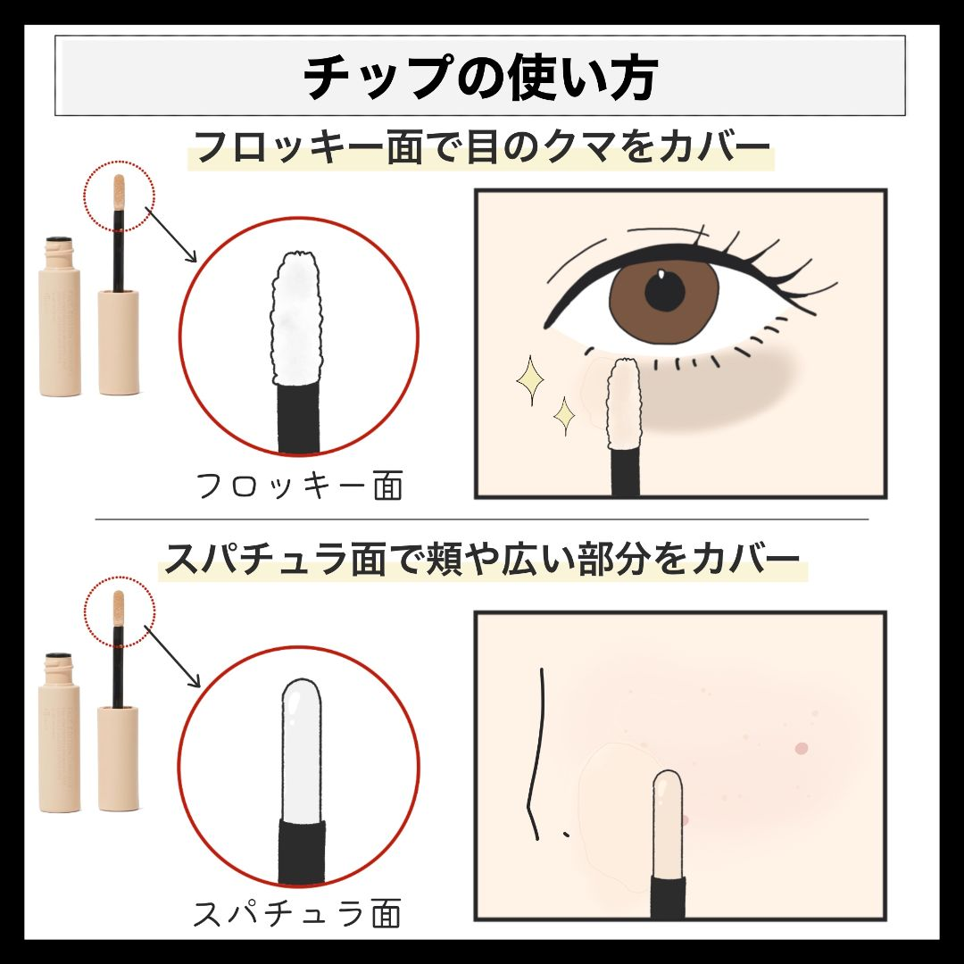 自然なカバー力♡ エテュセのコンシーラーを口コミ付きでレビューの画像